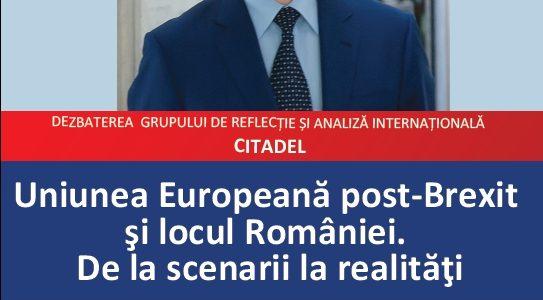 Uniunea Europeană post-Brexit şi locul României