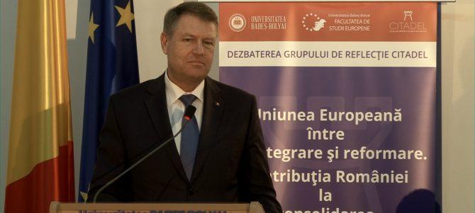 17 Noiembrie 2016. Uniunea Europeană între dezintegrare și reformare. Contribuția României la consolidarea construcției europene